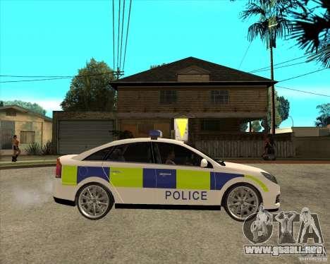 2005 Opel Vectra Police para la visión correcta GTA San Andreas