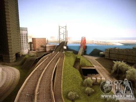 Aumento de dibujo máquinas y pedov para GTA San Andreas sucesivamente de pantalla