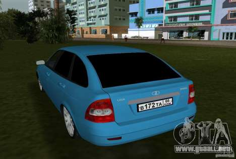 Lada Priora Hatchback v2.0 para GTA Vice City visión correcta