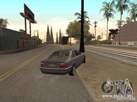 BMW 740 para GTA San Andreas vista posterior izquierda