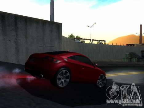 Audi TT 2009 v2.0 para visión interna GTA San Andreas