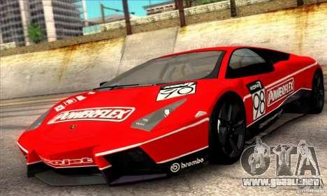Lamborghini Reventon para la vista superior GTA San Andreas