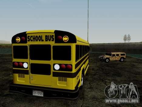 International Harvester B-Series 1959 School Bus para GTA San Andreas vista hacia atrás