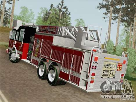 Pierce Rear Mount SFFD Ladder 49 para GTA San Andreas left