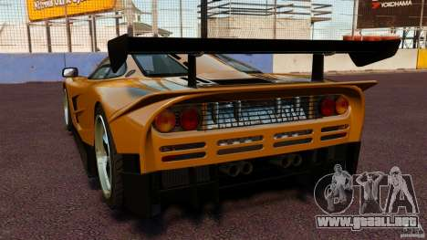 McLaren F1 para GTA 4 Vista posterior izquierda