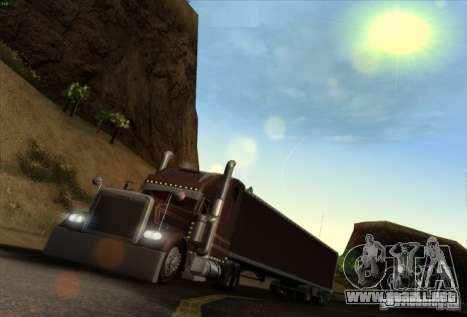 Freightliner Classic XL Custom para la visión correcta GTA San Andreas