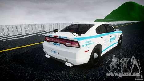 Dodge Charger NYPD 2012 [ELS] para GTA 4 vista lateral