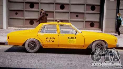 Chevrolet Impala Taxi 1983 [Final] para GTA 4 Vista posterior izquierda