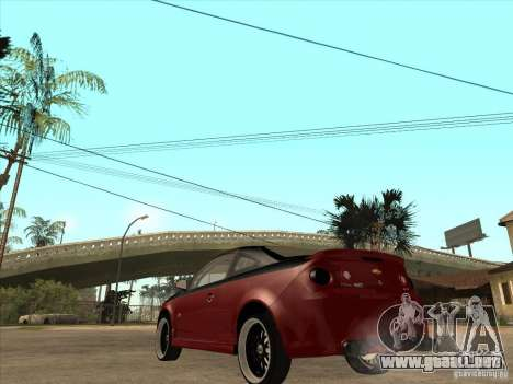 Chevrolet Cobalt ss Tuning para GTA San Andreas vista posterior izquierda