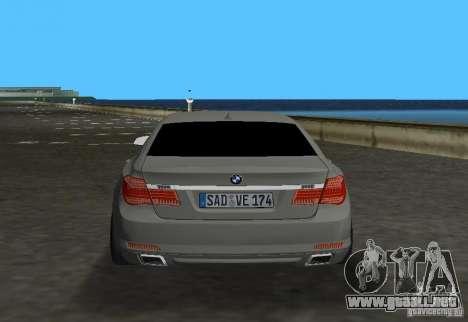 BMW 750 Li para GTA Vice City visión correcta