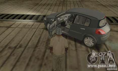 Renault Megane II 2005 para GTA San Andreas vista hacia atrás