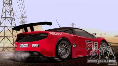 McLaren MP4-12C Speedhunters Edition para la vista superior GTA San Andreas