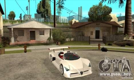 Alfa Romeo Tipo 33 GTI para GTA San Andreas vista hacia atrás