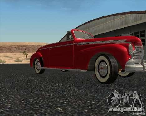 Chevrolet Special DeLuxe 1941 para vista lateral GTA San Andreas