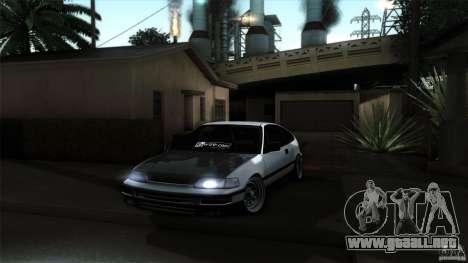 Honda CRX JDM para la visión correcta GTA San Andreas