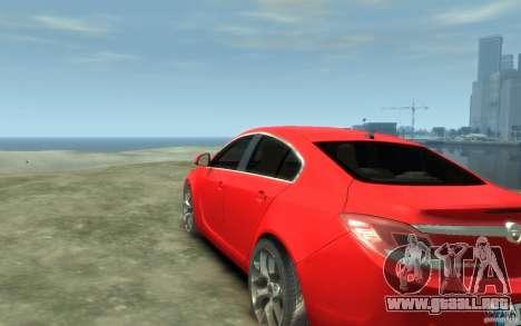 Opel Insignia OPC 2010 para GTA 4 Vista posterior izquierda