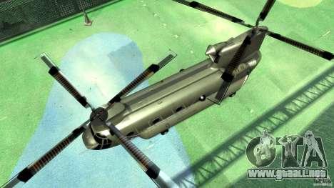 CH-47 para GTA 4 vista hacia atrás