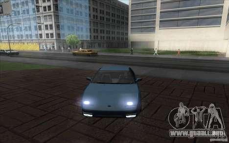 Nissan 200SX 1.8 Turbo 1990 para GTA San Andreas vista posterior izquierda