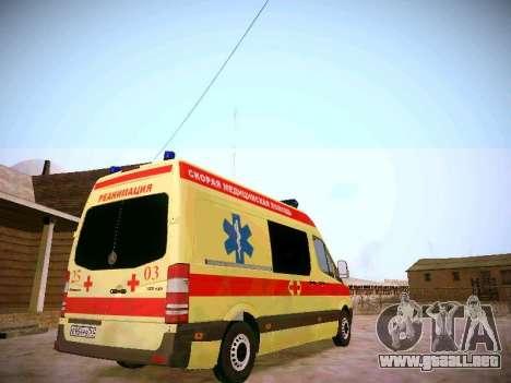 Mercedes Benz Sprinter Ambulance para la visión correcta GTA San Andreas