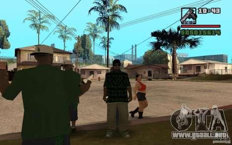 Grove Street Skin Pack para GTA San Andreas tercera pantalla