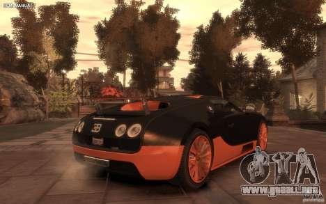 Bugatti Veyron Super Sport 2010 para GTA 4 left