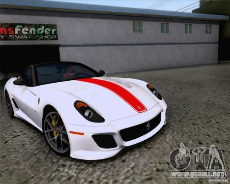Ferrari 599 GTO 2011 v2.0 para visión interna GTA San Andreas