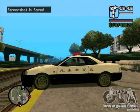 Nissan Skyline Japan Police para GTA San Andreas left