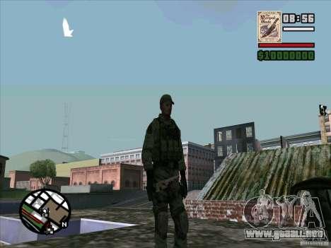 Dave de Resident Evil para GTA San Andreas sucesivamente de pantalla