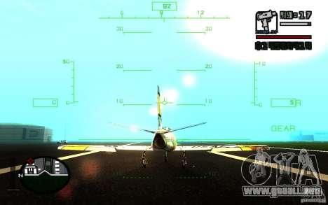F 86 Sabre para vista lateral GTA San Andreas