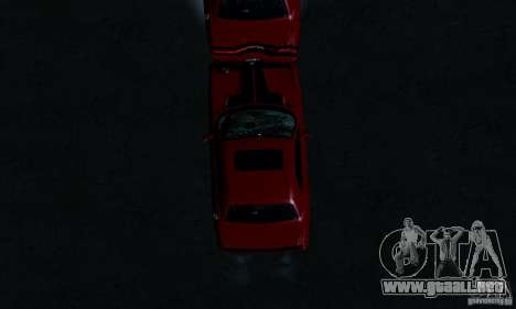 Dodge Challenger SRT8 2009 para la vista superior GTA San Andreas