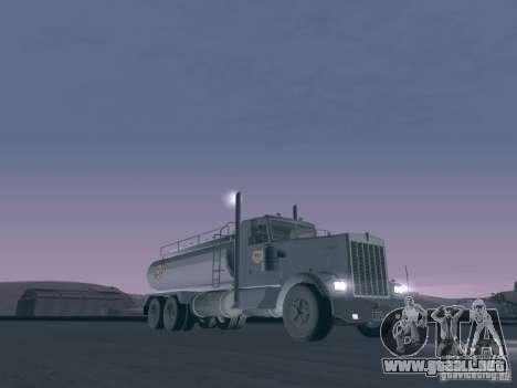 Kenworth Petrol Tanker para GTA San Andreas left
