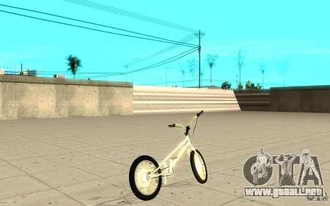 Trail Bike Chrome para GTA San Andreas vista posterior izquierda
