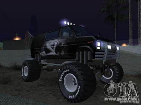 Ford Grave Digger para la vista superior GTA San Andreas