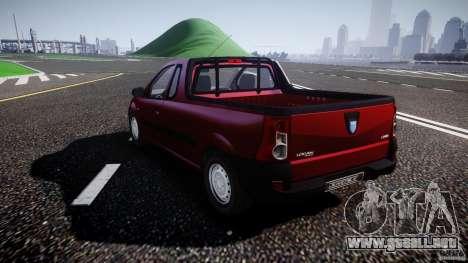 Dacia Logan Pick-up ELIA tuned para GTA 4 Vista posterior izquierda