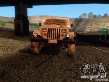 Jeep Wrangler 1994 para la vista superior GTA San Andreas