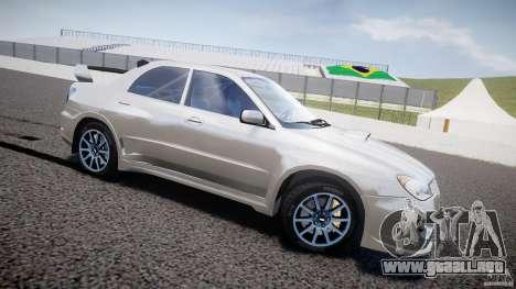 Subaru Impreza STI Wide Body para GTA 4 left