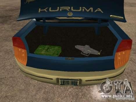 HD Kuruma para GTA San Andreas vista hacia atrás