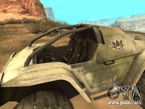 UAZ-8 Ocelot para GTA San Andreas vista posterior izquierda