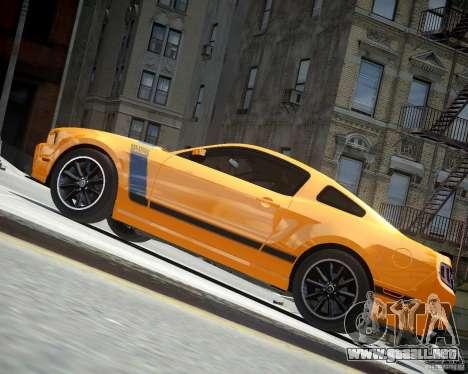 Ford Mustang Boss para GTA 4 vista hacia atrás