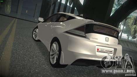 Honda CR-Z 2010 V1.0 para la visión correcta GTA San Andreas