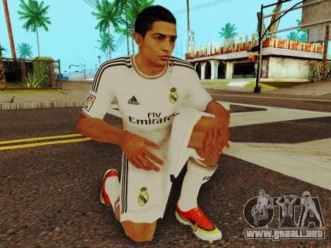 Cristiano Ronaldo v1 para GTA San Andreas quinta pantalla