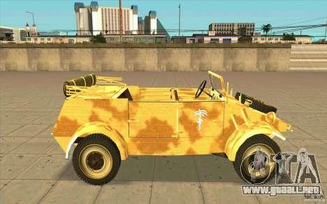 Kuebelwagen v2.0 desert para GTA San Andreas left