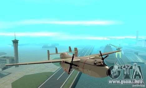 C-2 Greyhound para GTA San Andreas vista hacia atrás