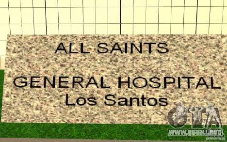UGP Moscow New General Hospital para GTA San Andreas tercera pantalla