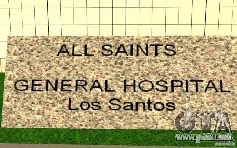 UGP Moscow New General Hospital para GTA San Andreas tercera pantalla