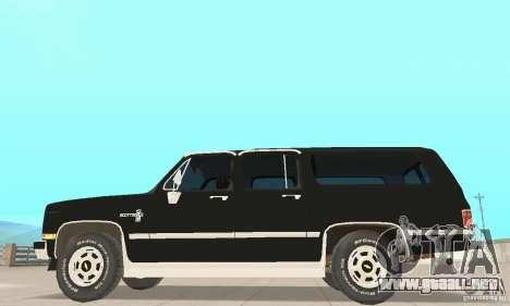 Chevrolet Suburban FBI 1986 para GTA San Andreas vista posterior izquierda