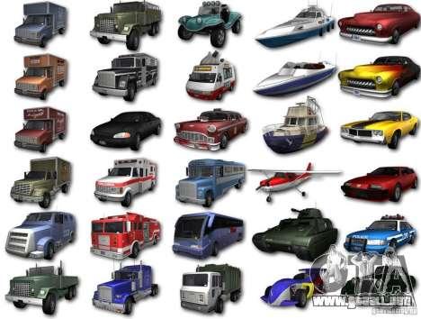 GTA3 HD Vehicles Tri-Pack III v.1.1 para GTA San Andreas vista posterior izquierda