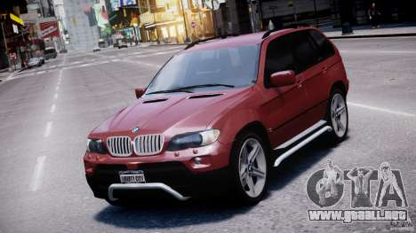 BMW X5 E53 v1.3 para GTA 4 vista superior