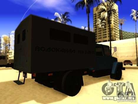 GAZ 3309 doble fila para GTA San Andreas vista hacia atrás