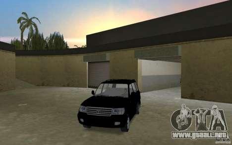 Toyota Land Cruiser 100 VX V8 para GTA Vice City visión correcta